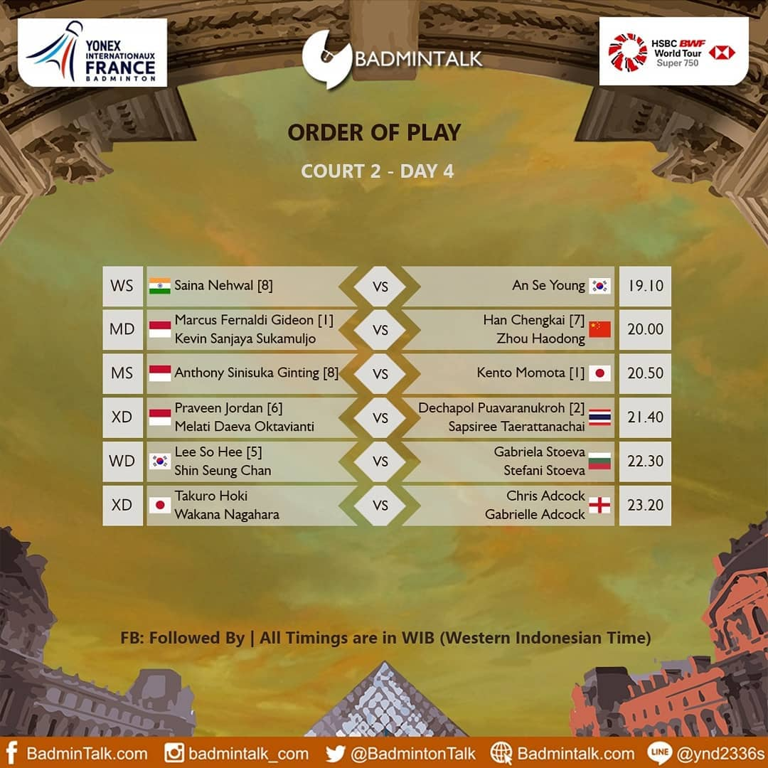 Photo of Jadwal Semifinal French Open: Indonesia Loloskan 4 Wakil
