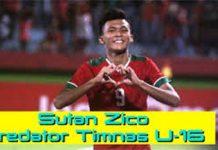 Rekor Bagus Sutan Zico Bersama U19